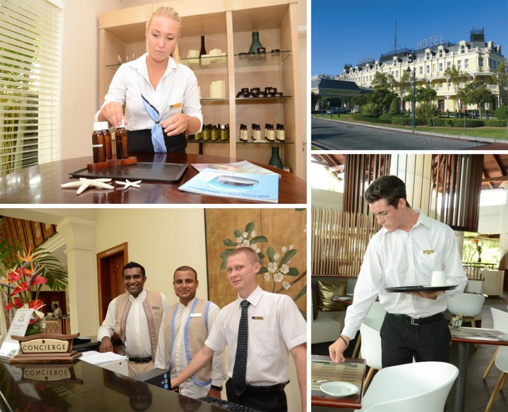 students are in direct contact with the hospitality profession