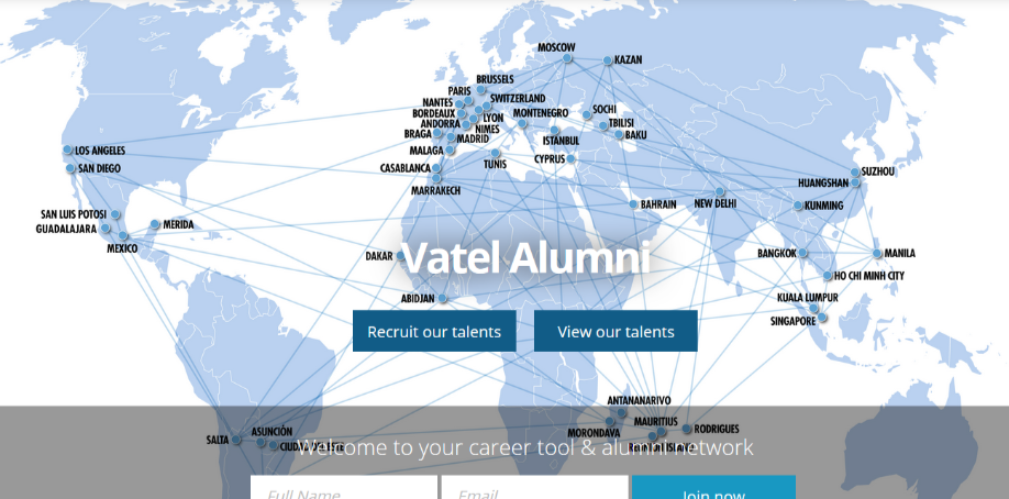 Vatelalumni recruit by publishing job offers in the hotel