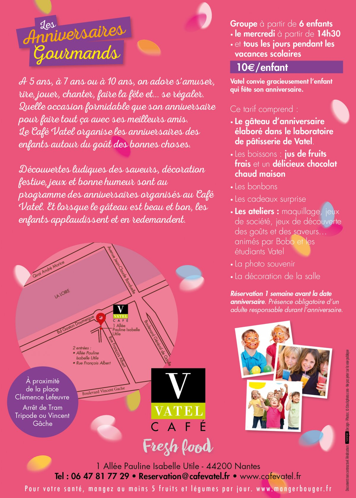 Anniversaires gourmands - Cafe Vatel