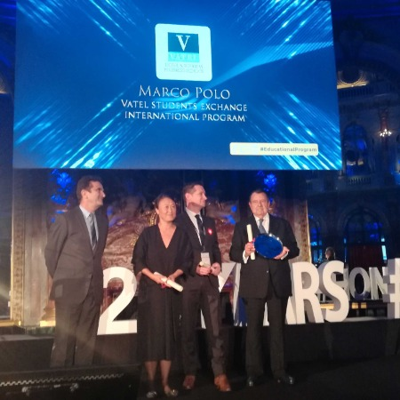 Vatel Madrid The Marco Polo program wins the Best Innovation in an Educational Program Award from the international hospitality industry