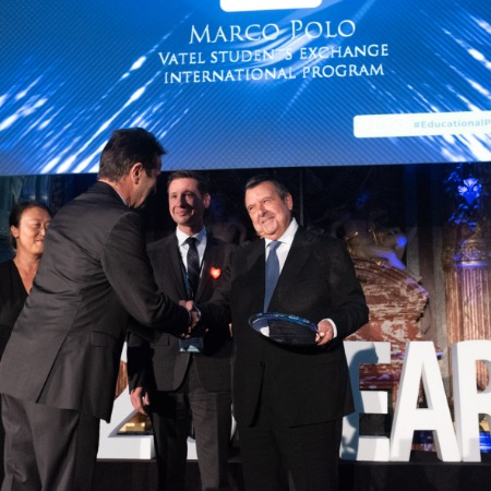The Marco Polo program wins the Best Innovation in an Educational Program Award from the international hospitality industry  - Vatel