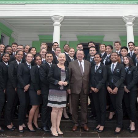 Visite du président-fondateur du groupe Vatel sur le Campus Réunion