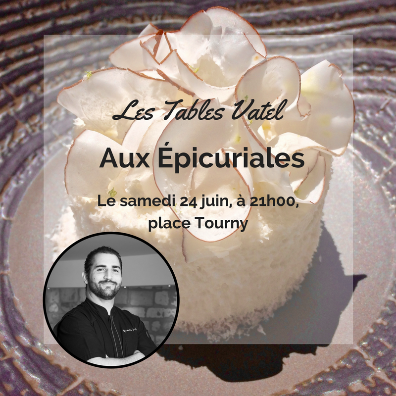 "Quentin Merlet, the ""Tables Vatel"" Chef, will ensure the show for the 2017 Épicuriales event!"