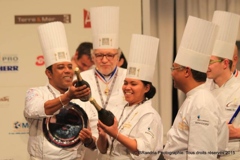 Trophée du plus beau buffet lors de l'International Catering Cup 2015
