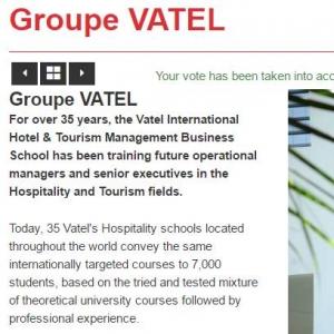 """Vatel Argentina Worldwide Hospitality Awards : voto Vatel como """"Mejor escuela hotelera"""""""