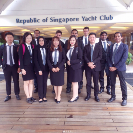 Vatel Singapore VATEL​ ​MBA​ ​Field​ ​Trip​ ​to​ ​Singapore​ ​Yacht​ ​Club