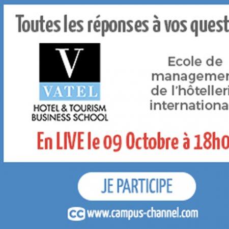 Vatel France Le 9 octobre : un Live pour tout savoir sur Vatel