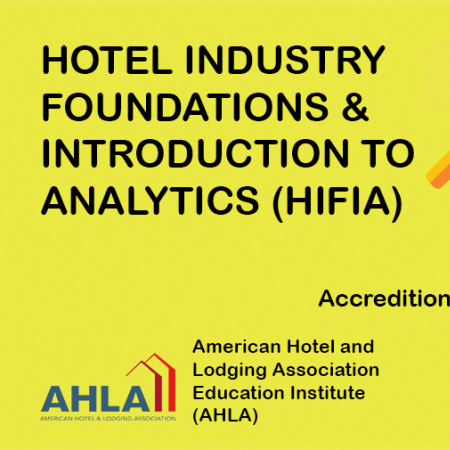 Vatel Singapore Hotel Industry Foundations & Introduction to Analytics (HIFIA)