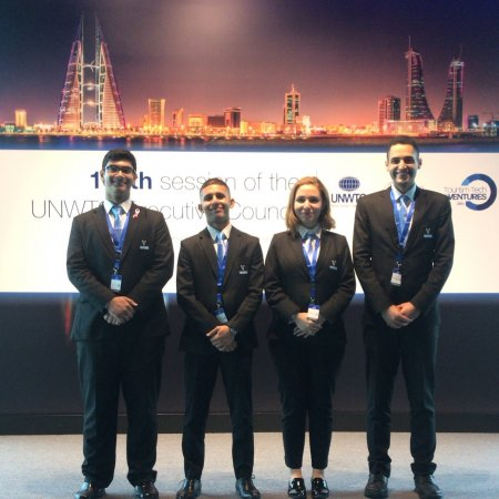 UNWTO Executive Council 109th session in Bahrain: the story of 4 Vatel's students. - Vatel