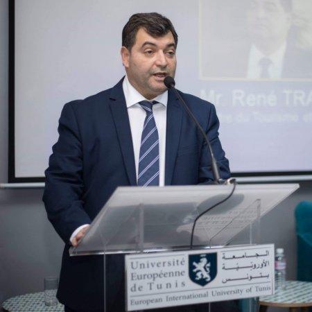 Vatel Tunisie René Trabelsi invité de VATEL au campus de l'Université Européenne de Tunis