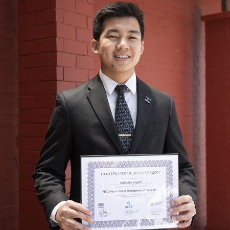 Vatel Manila Vatel Manila student Voltaire Capili places fifth in international Hotel Management Competition