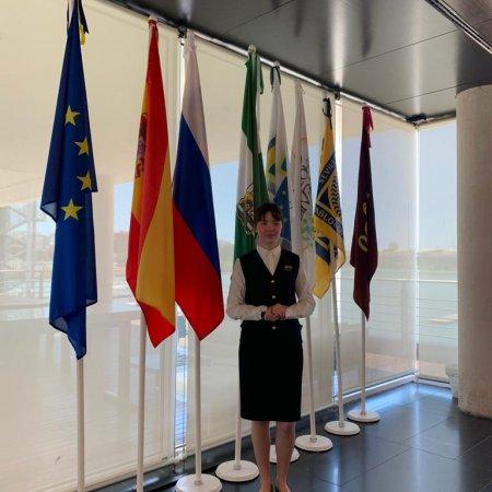 Студентка 2 курса Vatel-Kazan Зульфия Зайнуллина успешно проходит  стажировку в Испании