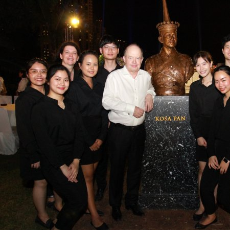 Vatel students helped provide F&B service at the French Ambassador's Residence, Thailand - Vatel