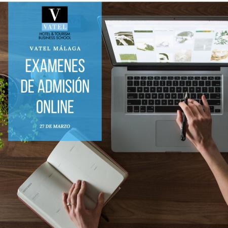 Pruebas de admisión online 27 de marzo y 3 de abril 2020