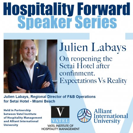 HOSPITALITY FORWARD Guest Speaker Series - Julien Labays