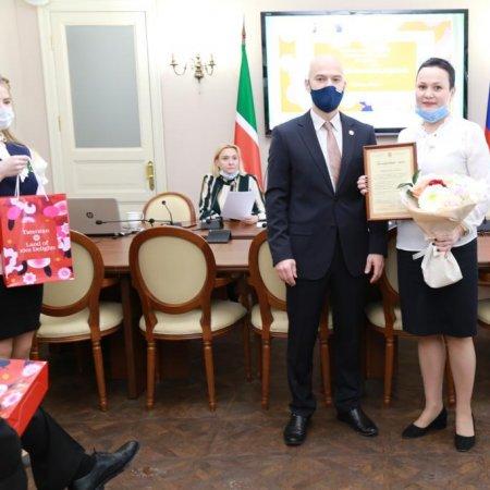 Награждение куратора Vatel Валиевой Г.А. благодарственным письмом