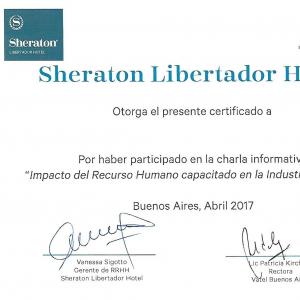 Vatel Argentina Alumnos Vatel invitados a un congreso en el hotel Sheraton