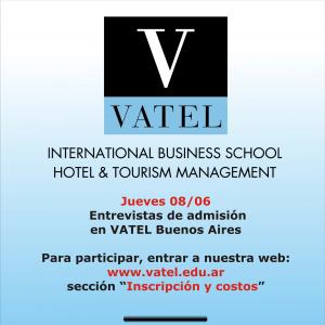 Vatel Argentina Jueves 8 de junio: día de entrevistas de admisión