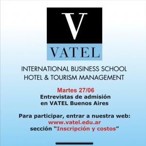 Vatel Argentina Martes 27 de junio: día de entrevistas de admisión