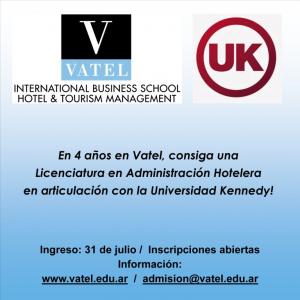 Vatel Argentina Licenciatura en Administración Hotelera en 4 años en Vatel, en articulación con la Universidad Kennedy