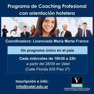 Vatel Argentina Inicio del Programa de Coaching Profesional con orientación hotelera