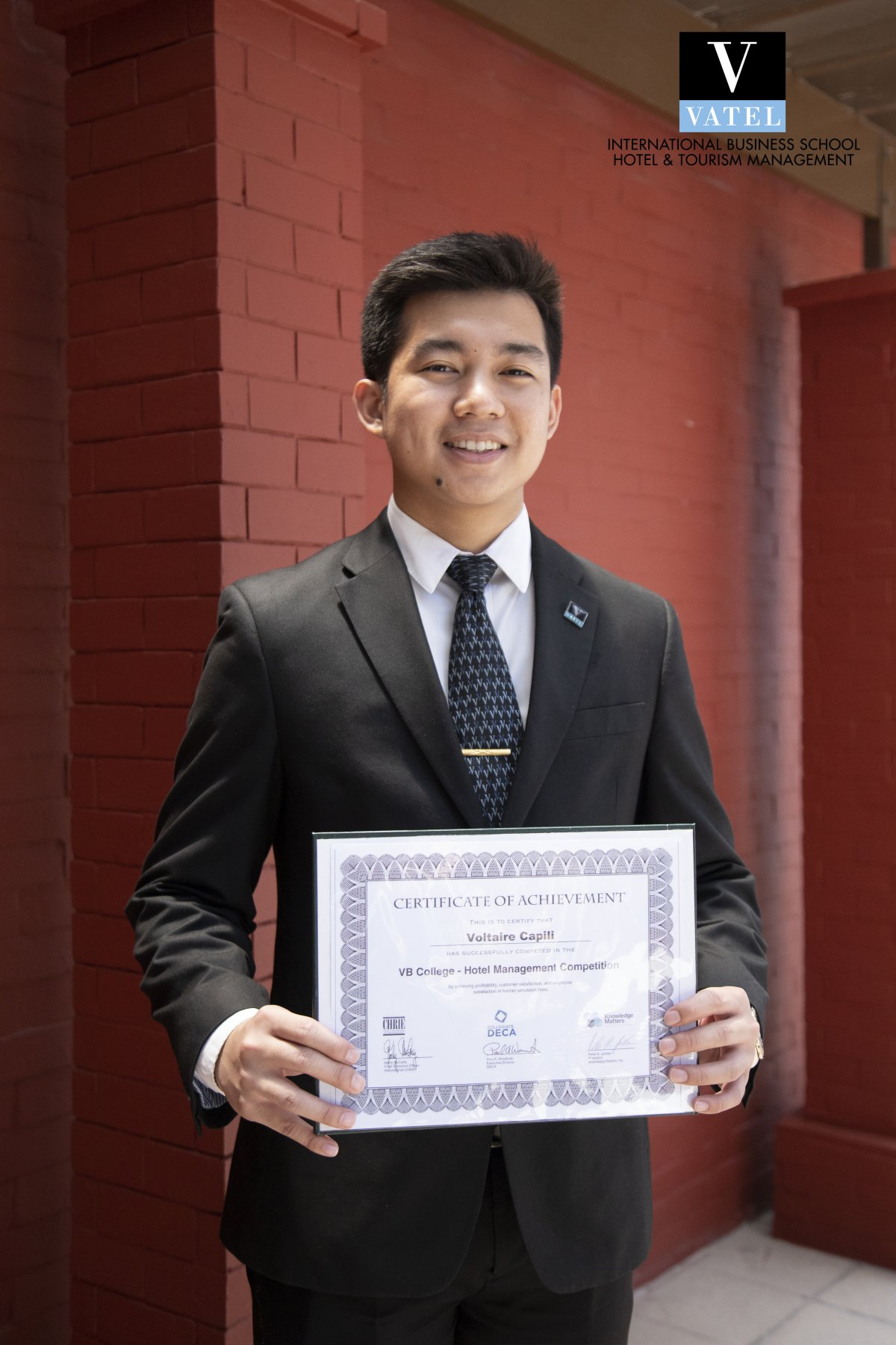 Vatel Manila student Voltaire Capili places fifth in international Hotel Management Competition