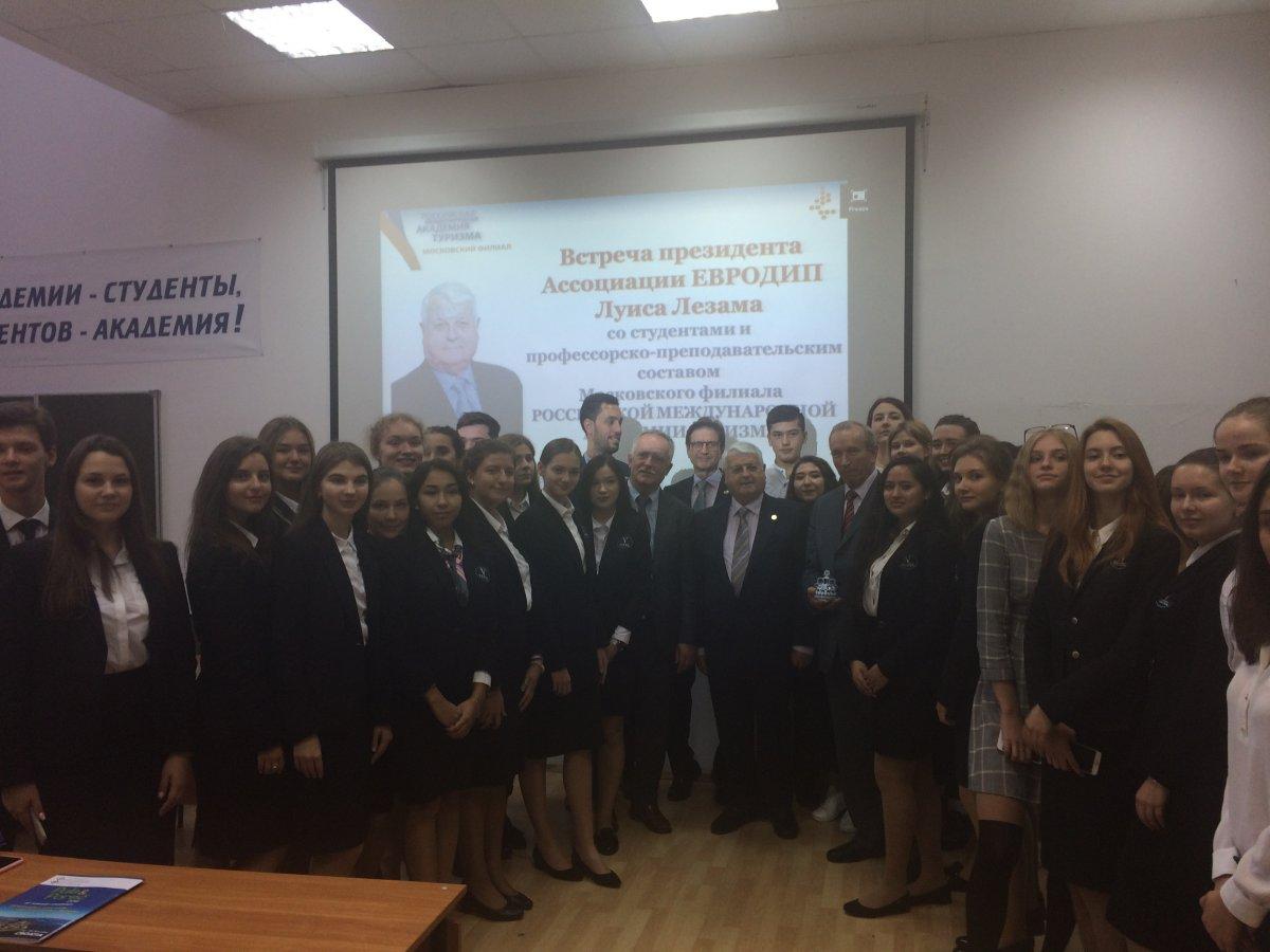 Студенты Ватель Москва на встрече с президентом