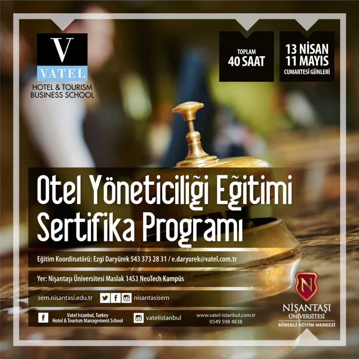 Otel Yöneticiliği Sertifika Programı