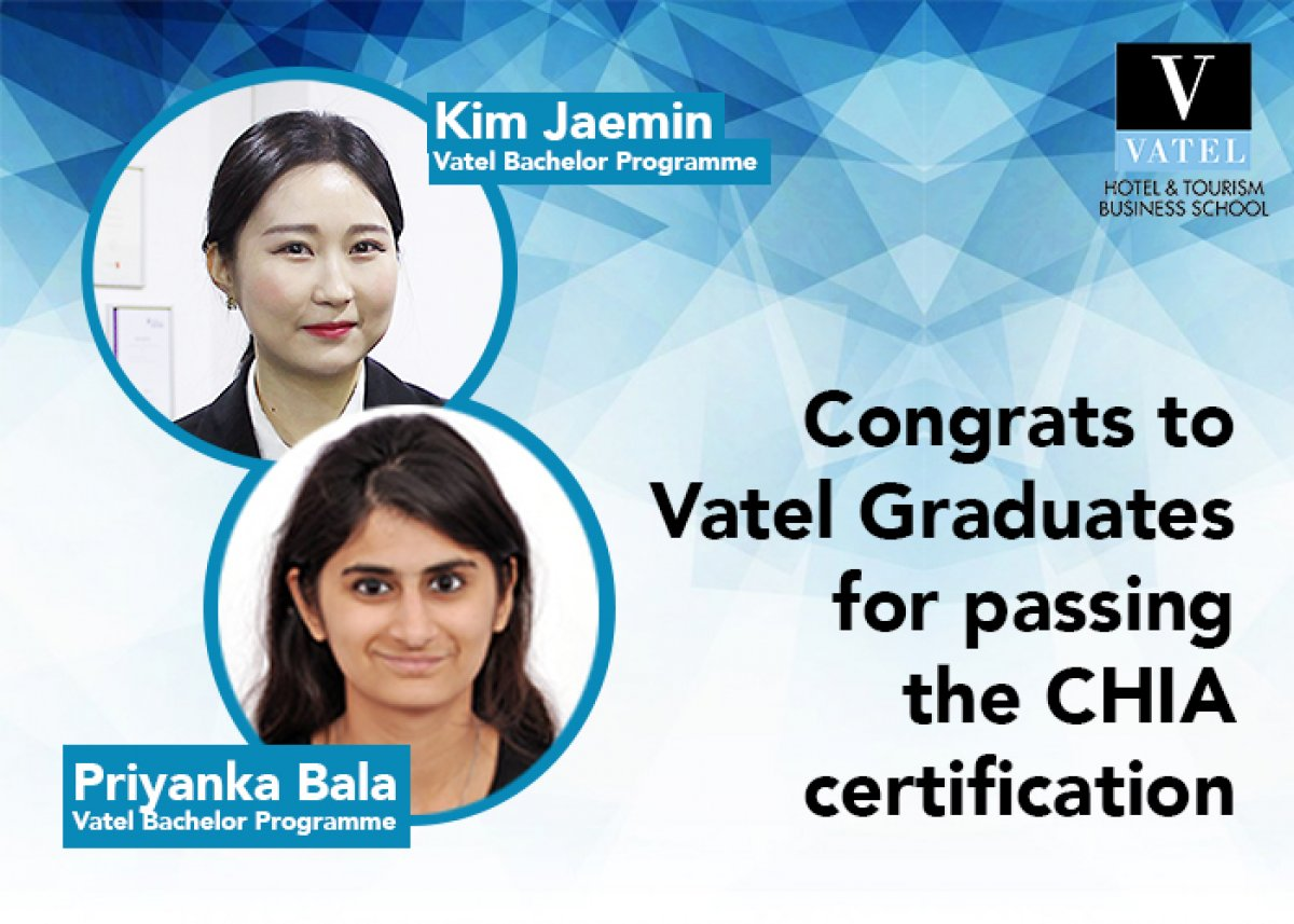 Congrats to Vatel graduates who passed the CHIA certification
