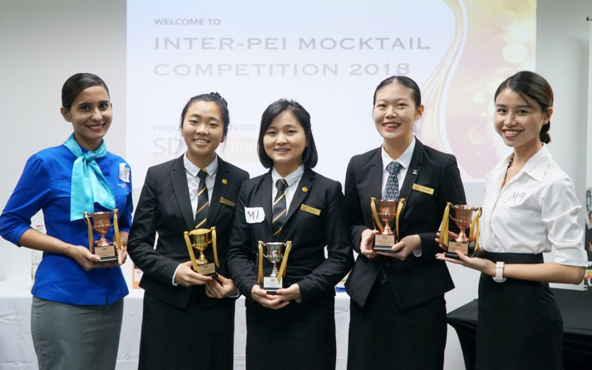 Vatel Student Won 4th Placing in Inter-PEI Mocktail Competition 2018