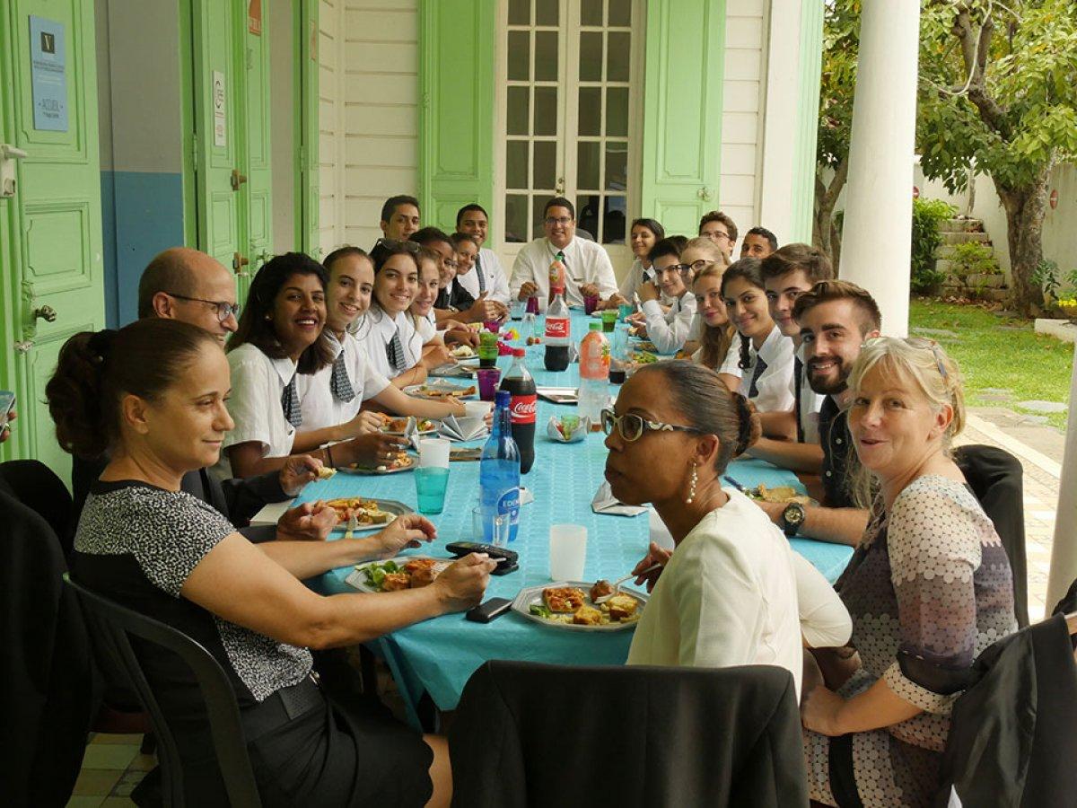 Vatel La Réunion - Repas de rentrée - résultats des partiels - 39